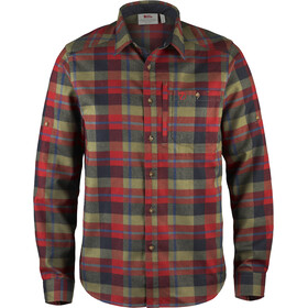 Fjällräven Fjällglim Longsleeve Shirt Men red/colourful